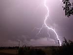 CG blesk při noční bouřce - autor: Miroslav Sedlmajer