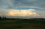 Mohutný cumulonimbus uPrahy - autor: