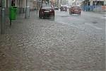 Následky přívalového deště veSlaném - autor: Miroslav Sedlmajer