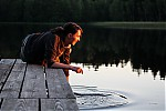 Podvečerní vocení na hrázi rybníka Budaře - autor: Jan Drahokoupil