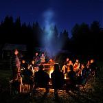 Večerní táborák - autor: Jan Drahokoupil