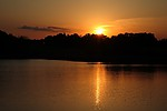 Západ Slunce nad rybníkem Budař - autor: Jan Drahokoupil