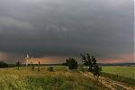 Čelo přicházejí bouřky snevýrazným shelf cloudem - autor: Jan Drahokoupil