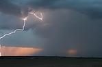 Úder blesku daleko od jádra bouře ! - autor: Jan Drahokoupil