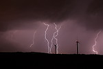 CG blesky s větrnými elektrárnami u Pcher - autor: Jan Drahokoupil
