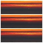 Složenina tří fotek zachycující průběh zeleného záblesku - autor: Jan Drahokoupil