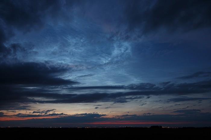 Velmi rozsáhlá noční svítící oblaka - autor: Jan Drahokoupil