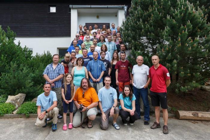 Skupinové foto všech účastníků semináře - autor: Jan Drahokoupil