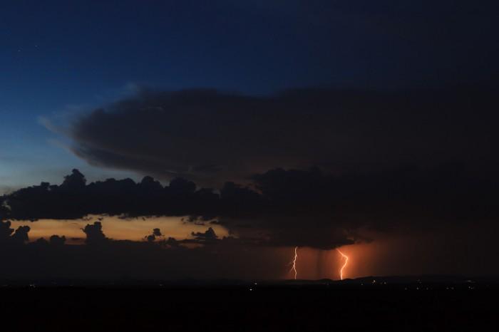 Bouřka nad Středohořím II - autor: Jan Drahokoupil