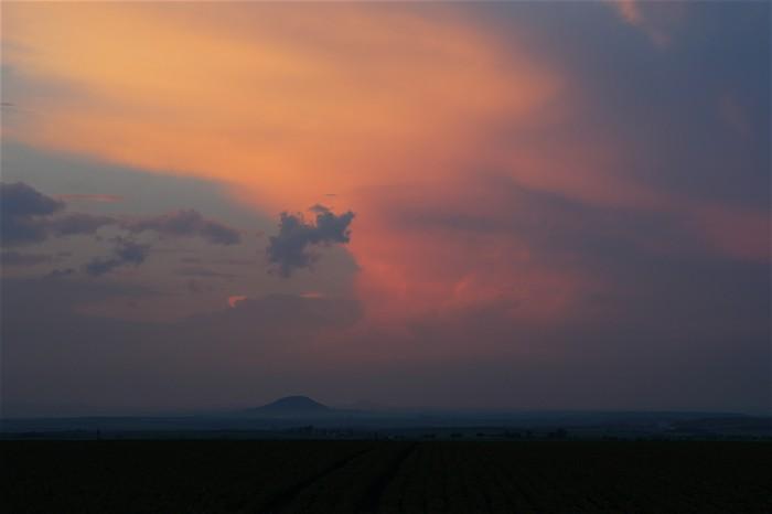 Večerní konvekce nad Středohořím - autor: Jan Drahokoupil