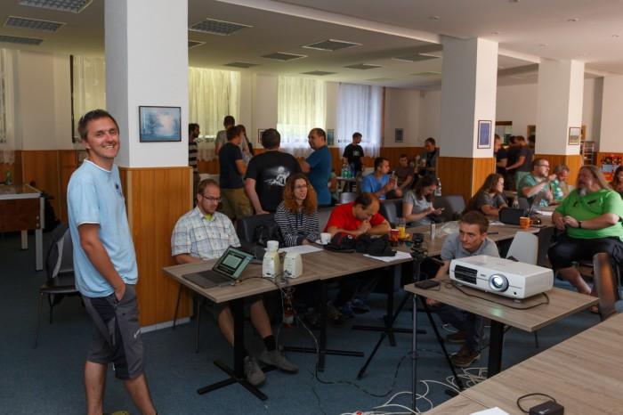 Rongič představuje úpravy meteostanice a webové stránky I- autor: Jan Drahokoupil