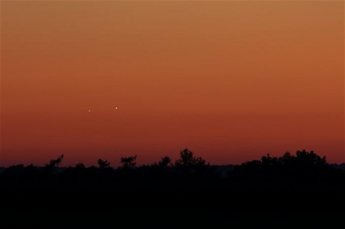 Večerní konjunkce Venuše a Jupitera - autor: Jan Drahokoupil