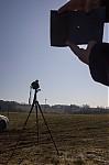 Zatmění Slunce skrz osvícený film - autor: Lukáš Ronge