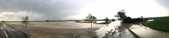 Panorama zaplavené silnice - autor: Lukáš Ronge