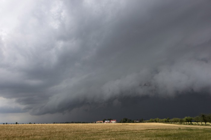 Shelf cloud - autor: Zbyněk Černoch