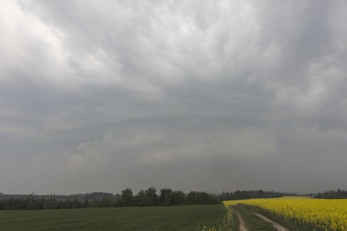 wall cloud na první supercele - autor: Zbyněk Černoch