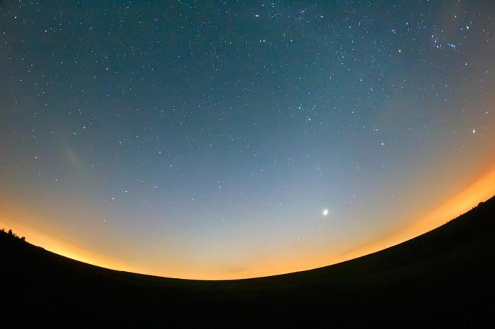 Zodiakální světlo sairglow - autor: Zbyněk Černoch