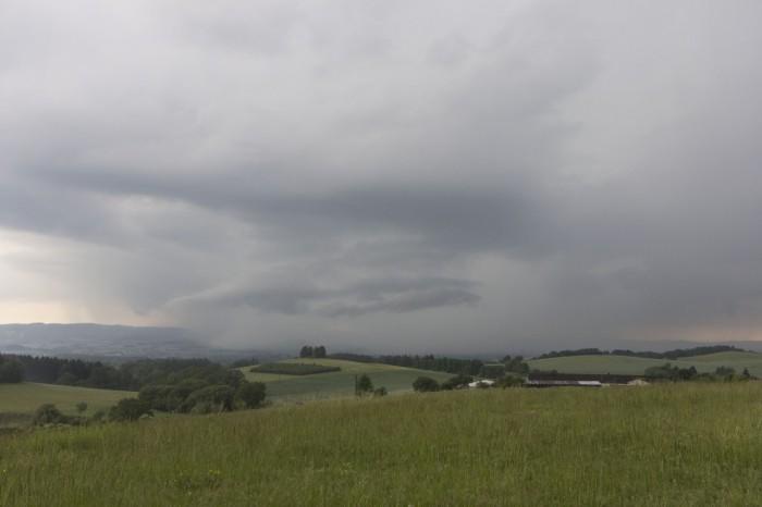 Shelf cloud vevývoji - autor: Zbyněk Černoch
