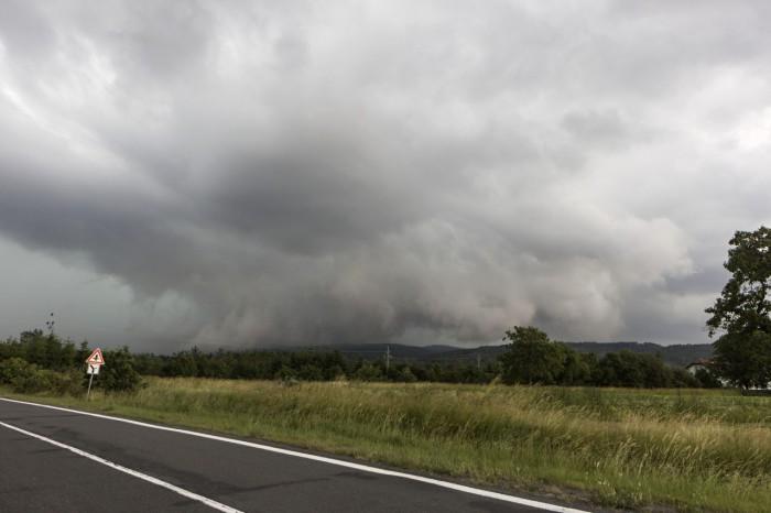 Shelf cloud - autor: Zbyněk Černoch