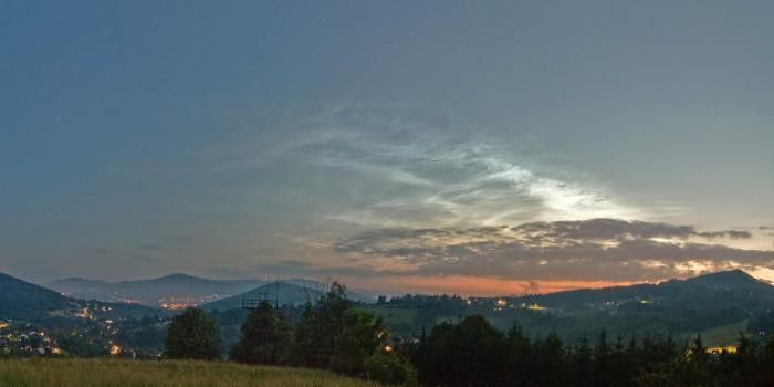 NLC na soumračné obloze - autor: Martin Popek