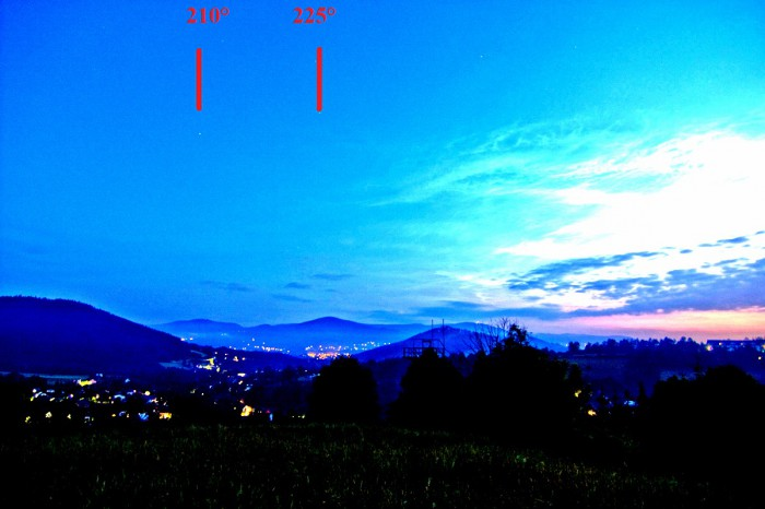 NLC překvapivě až na jižní části oblohy - autor: Martin Popek
