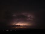 Cumulonimbus sshelf-cloudem osvícený vnitřním bleskem - autor: Michal Janoušek