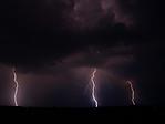 Blesky pod bouřkovým mrakem - autor: Michal Janoušek
