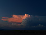 Cb svrcholem ozářeným západem slunce - autor: Michal Janoušek