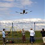 Přelet přistávajícího letadla - autor: Michal Janoušek