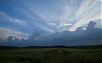 Blížící se pás bouřkové a kupovité oblačnosti - autor: Michal Janoušek