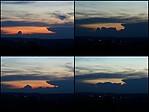 Vývoj silných cumulonimbů při západu slunce - autor: Michal Janoušek