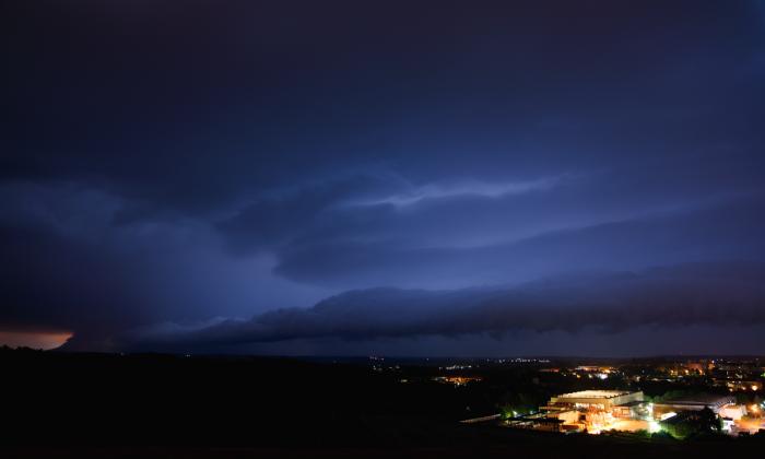 Shlef-cloud noční bouřky - jižní část - autor: Michal Janoušek