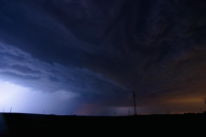 Přední část severně míjející bouřky - autor: Michal Janoušek
