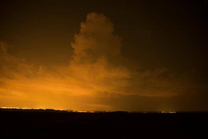 Nadějně vypadající noční cumulonimbus - autor: Michal Janoušek