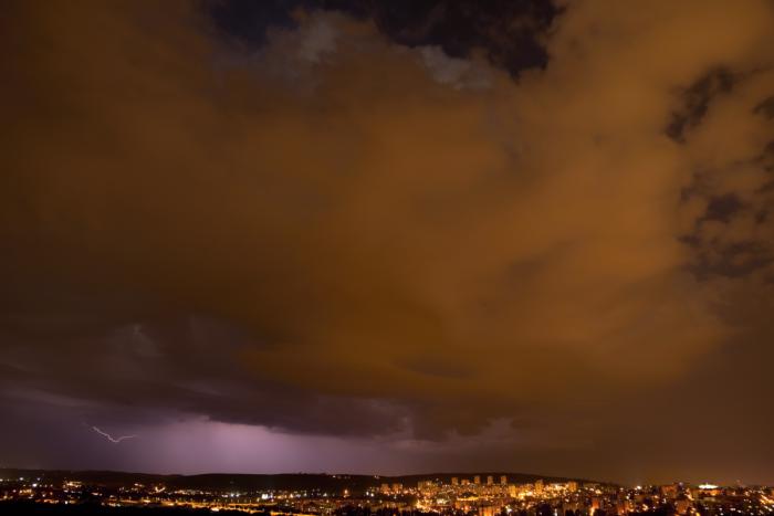 Noční bouřka nad Brnem I- autor: Michal Janoušek
