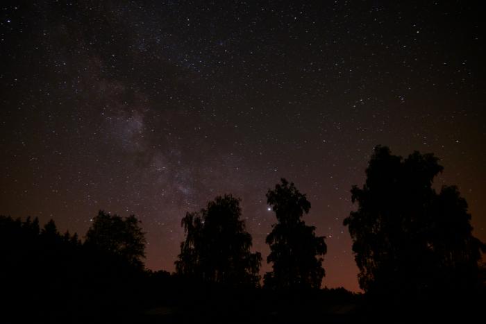 Noční obloha vRadosťovicích - autor: Michal Janoušek