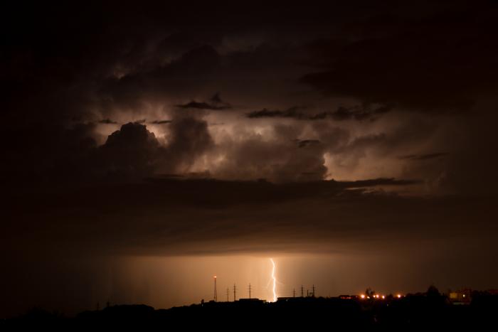 CG blesk na odcházející bouřce - autor: Michal Janoušek