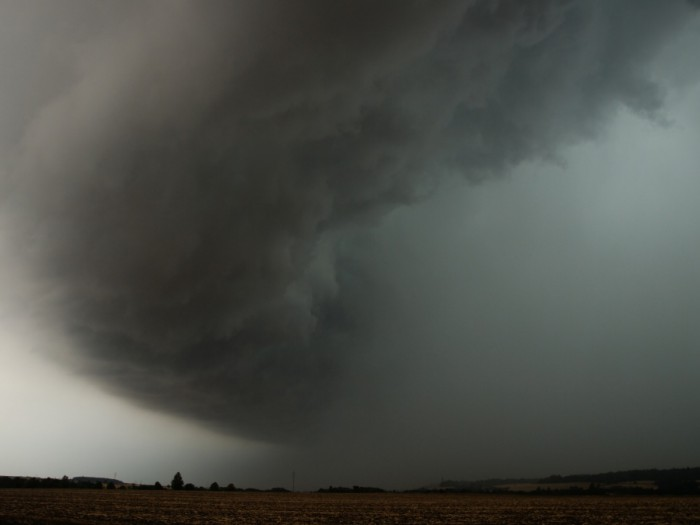 Silná pásová bouřka - pohled na severní stranu II - autor: Michal Janoušek