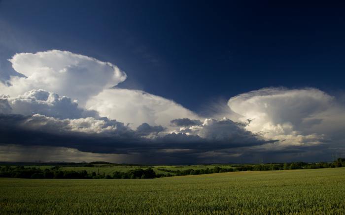 Trojice kovadlin slabých cumulonimbů - autor: Michal Janoušek