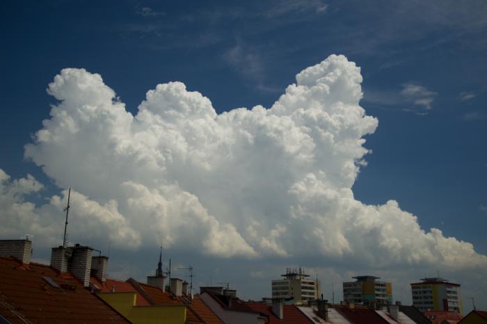 Cumulus congestus - autor: Michal Janoušek