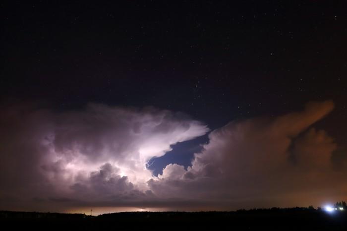 CG+ osvětlující cumulonimbus - autor: Tomáš Novotný