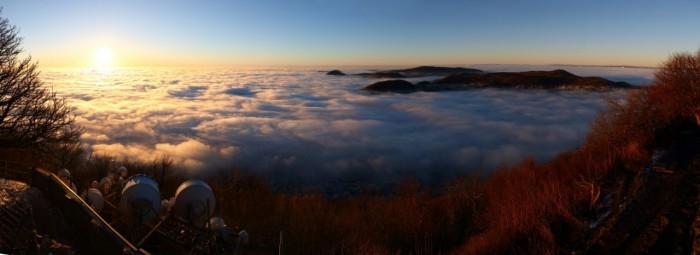 Panorama po východu slunce - autor: Tomáš Novotný