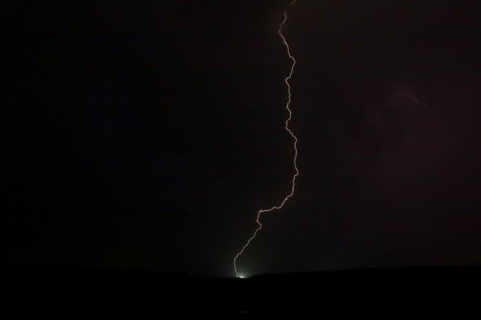 power flash při úderu blesky - autor: Tomáš Novotný