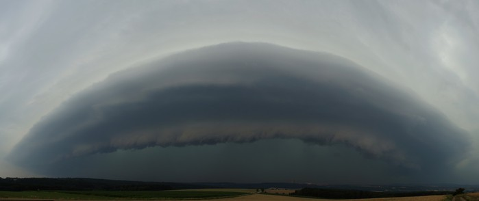 Panorama shelf cloudu - autor: Tomáš Novotný