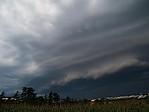 Shelf cloud - autor: Luboš Opalecký