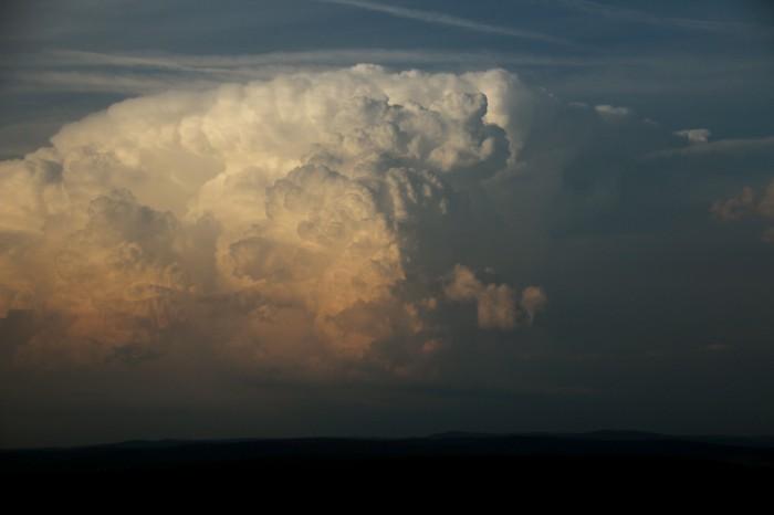 Zřejmě supercelární bouře na jižním konci - autor: Luboš Opalecký