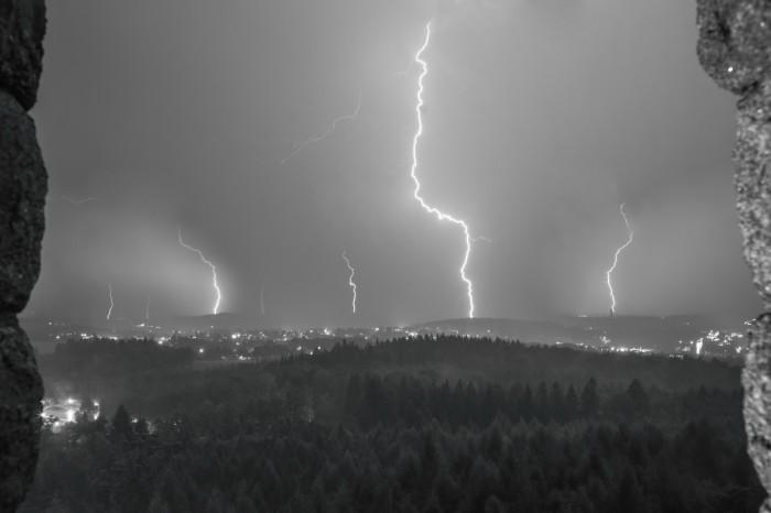 CG blesky nad Aší - autor: Luboš Opalecký