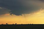 pravděpodobně wall cloud na rozpadající se bouřce - autor: