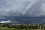 Wall cloud nad Prahou - autor: Dagmar Müllerová