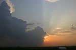 okraj cb vzapadajícím slunci - autor:
